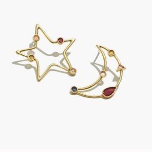 Madewell Finespun Moon and Star Earrings NWT
